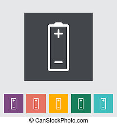 Battery icon. Vector illustration EPS.