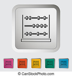 Abacus. Single icon. Vector illustration.