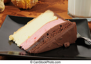 Neapolitan cheese cake - Delicious Neapolitan cheesecake...