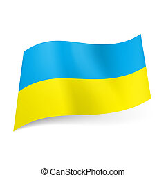 Ukraine state flag. - National flag of Ukraine: blue and...