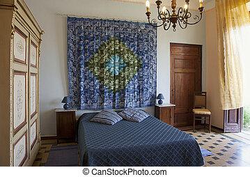"""Bedroom in Tuscany style. Hotel """"La Gemma di Elena"""", Lucca...."""