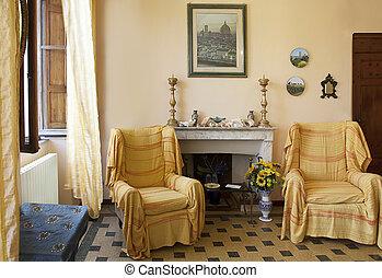 """Sitting-room. Hotel """"La Gemma di Elena"""", Lucca. Italy"""
