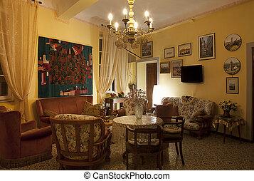 """Living room at evening - Interior of living room. Hotel """"La..."""