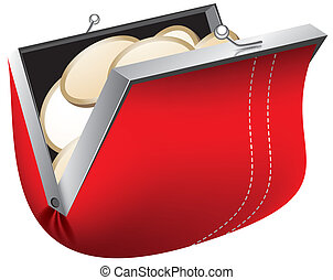 wallet vector illustration eps 10 abstract form