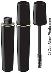 Mascara isolated illustration of abstract form eps 10