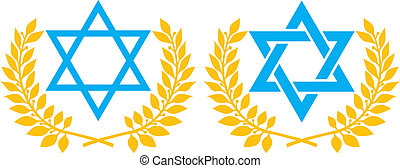 Vector illustration of star of David symbol of Israel