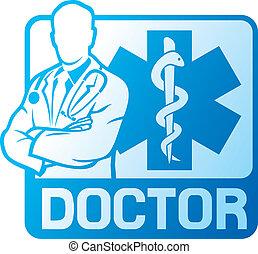 medical doctor symbol (medical symbol caduceus snake with...