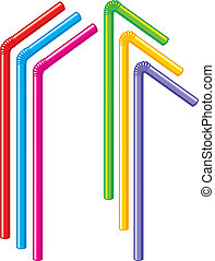 colorful drinking straws (colored drinking straws)