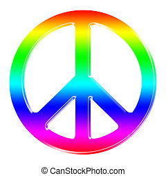 rainbow dimensional peace sign