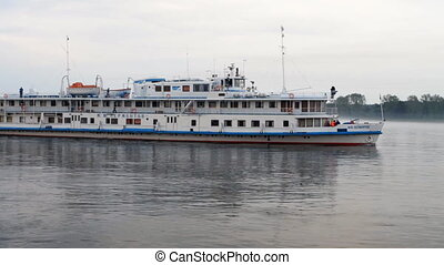 Passenger ship. - Passenger ship on river.