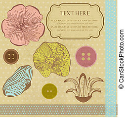Cute vector background with decorative elements