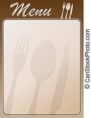 menu, ristorante