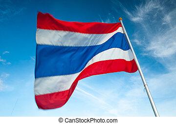 Thailand flagpole, flagstaff