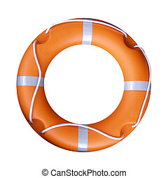 Life buoy - Isolated orange life buoy