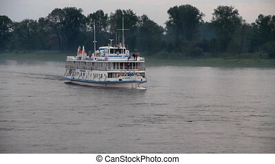 Passenger ship - Passenger ship on river