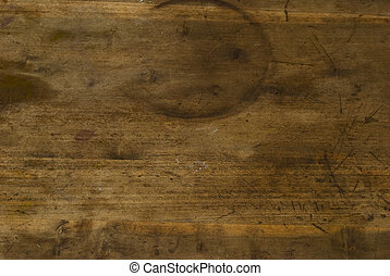 Grungy wood texture - My grotty grungy dining room table top...