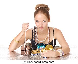 Greedy for jewelry