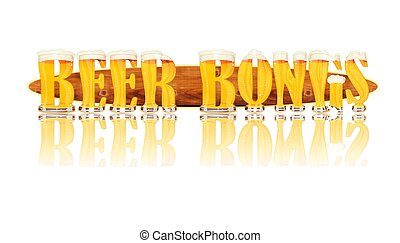 BEER ALPHABET letters BEER BONGS - Very detailed...