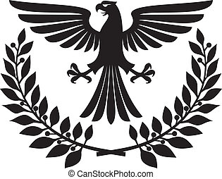 eagle emblem (eagle coat of arms, eagle symbol, eagle badge,...