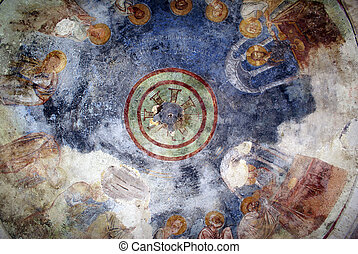 Dome - Picture on the dome of church St Nicolas inb DEmre,...