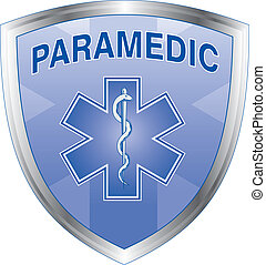 Paramedic Shield - Illustration of an emergency paramedic...