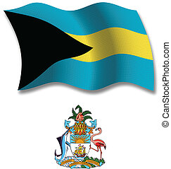 bahamas textured wavy flag vector