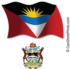 antigua and barbuda textured wavy flag vector