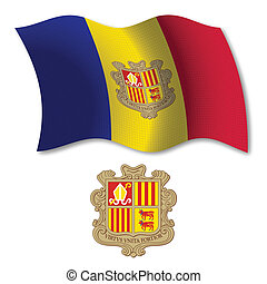 andorra textured wavy flag vector