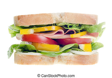 Sandwich isolated - a sandwich isolated before white...