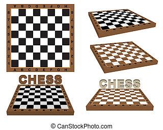 Conjunto, Tableros de ajedrez