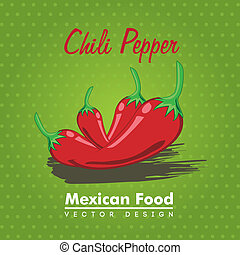 mexican food over green background vector illustration