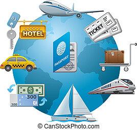 travel icon concept