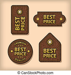 best price leather labels
