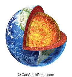 Earth cross section. Lower Mantle version. - Earth cross...