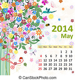 Calendar for 2014, may