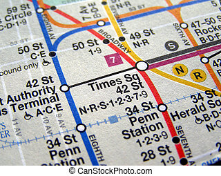 New York subway map - Subway map of the New York underground...
