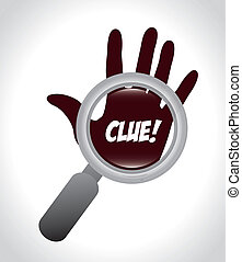 clue design over gray background vector illustration