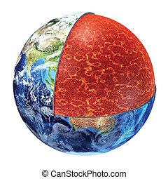 Earth cross section. Upper Mantle version. - Earth cross...