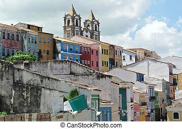 Houses of Pelourinho - Pelourinho in Salvador da Bahia