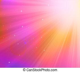 místico, cielo, estrellas, Plano de fondo