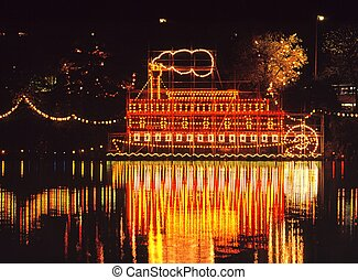 Paddle steamer, Walsall, England - Walsall Arboretum annual...