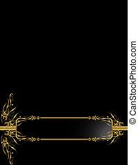 Gold Black elegant backgr - Gold black elegant design on a...