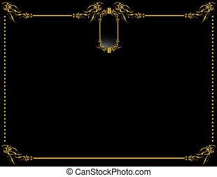 Gold Black elegant backgr