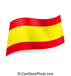 State flag of Spain - National flag of Spain: wide yellow...