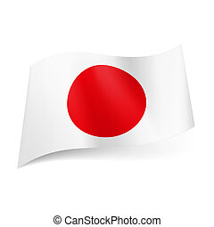 State flag of Japan. - National flag of Japan: red sun on...
