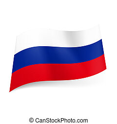 State flag of Russia - National flag of Russian Federation:...