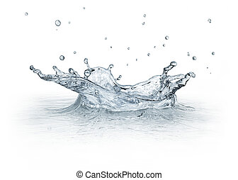 Splash water isolated on white background. - Water Splash...