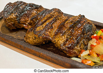Grilled argentinean steak - A delicious argentinean steak in...