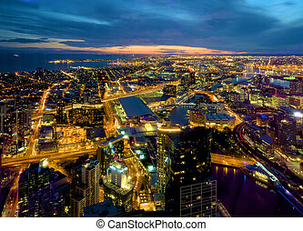 melbourne docklands and more - looking out over melbourne...