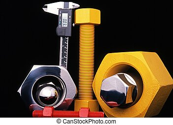 Large nuts and bolts, UK. - Large Nuts & Bolts and a digital...